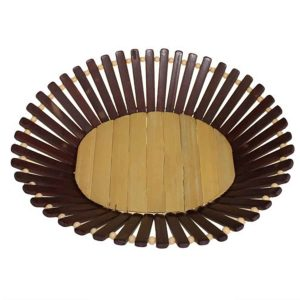 Oval Bamboo Basket Large