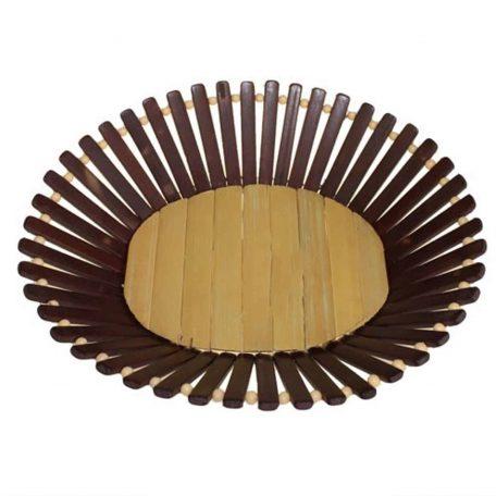 Oval Bamboo Basket Large