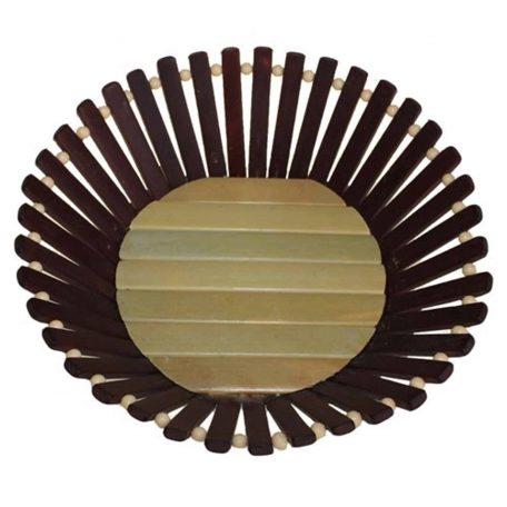 Large Round Bamboo Basket