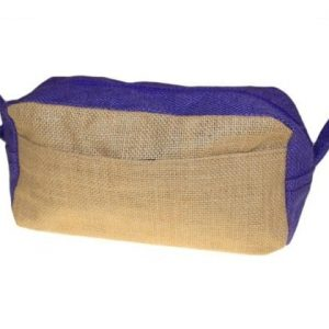 Jute Toiletry Bag Natural & Lavender