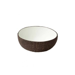 Coconut Bowl White Lacquer