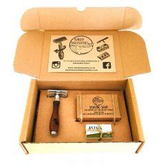 Plastic Free Shaving Kit – Brown