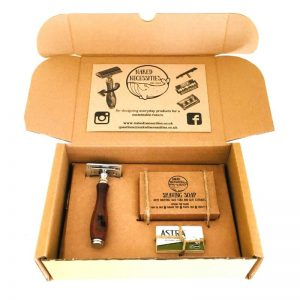 Plastic Free Shaving Kit – Brown