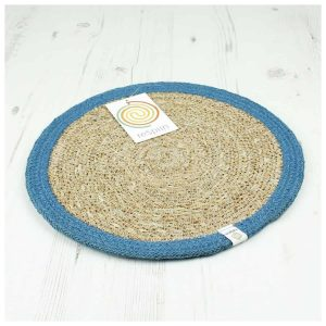 Round Seagrass & Jute Tablemat