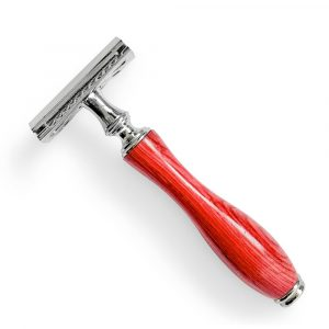 Safety Razor + 5 Blades – Vibrant Red