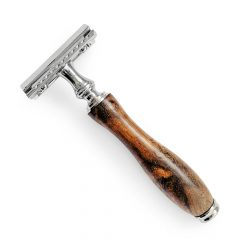Safety Razor + 5 Blades – Traditional Brown
