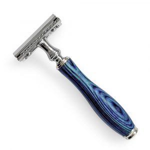 Safety Razor + 5 Blades – Marine Blue